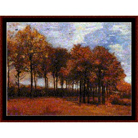 Lane with Poplars - Van Gogh cross stitch pattern by Cross Stitch Collectibles | Crafting | Cross-Stitch | Wall Hangings