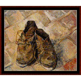 the shoes - van gogh cross stitch pattern by cross stitch collectibles
