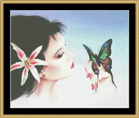 Madame Butterfly - Cross Stitch Download | Crafting | Cross-Stitch | Other