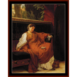 lesbia weeping - alma tadema cross stitch pattern by cross stitch collectibles