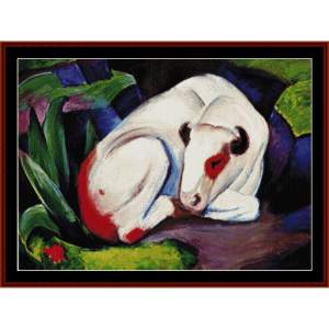 Steer - Franz Marc counted cross stitch download | Crafting | Cross-Stitch | Other