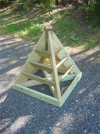 3 ft. pyramid planter plans