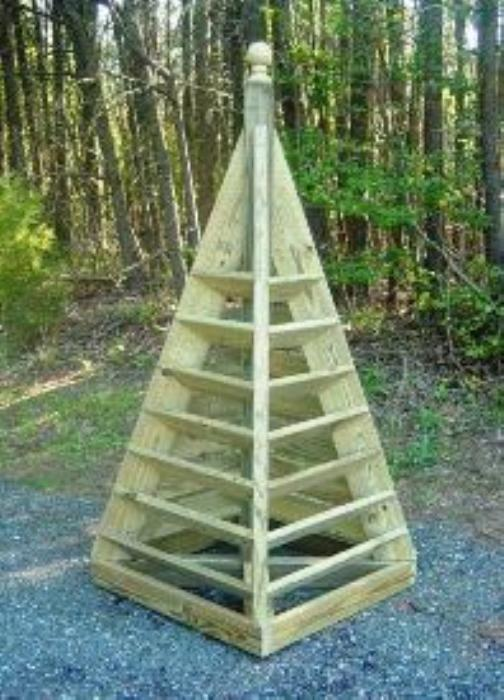 Fourth Additional product image for - 3 and 6 ft. Pyramid Planter Plans