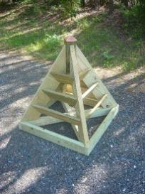 3 and 6 ft. pyramid planter plans