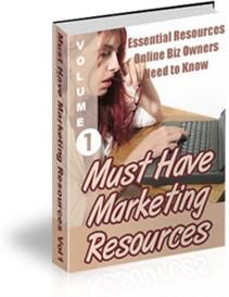 Must Have Marketing Resources- Vol #1 Ebook   eBooks   Business and Money
