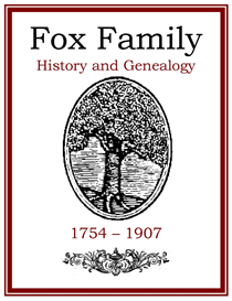 Fox Family History and Genealogy | eBooks | History