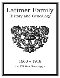 Latimer Family History and Genealogy | eBooks | History