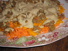 Sunny Sweet Potato Stuffing with Onion Mushroom Gravy | eBooks | Food and Cooking