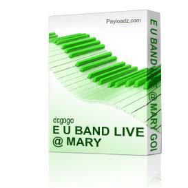 E U Band Live @ Mary Gold's 10/15/10 | Music | R & B