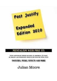 Post Justify - Mentalism with Post-It notes