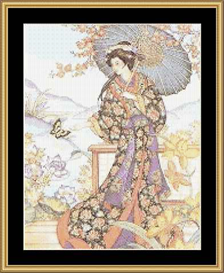 Nobel Oriental With Parasol - Cross Stitch Download | Crafting | Cross-Stitch | Other