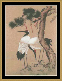 Two Cranes - Cross Stitch Download | Crafting | Cross-Stitch | Other