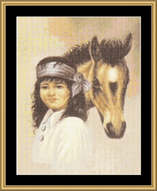 Boy With Horse  - Cross Stitch Download | Crafting | Cross-Stitch | Other