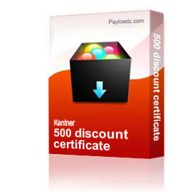 500 discount certificate | Other Files | Documents and Forms