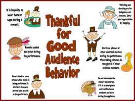 Thankful for Good Audience Behavior | Other Files | Patterns and Templates