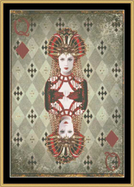 Queen Of Diamonds - Mirrored | Crafting | Cross-Stitch | Other