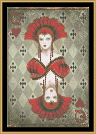 Queen Of Hearts - Mirrored | Crafting | Cross-Stitch | Other