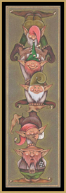 Balancing Gnomes - Cross Stitch Download   Crafting   Cross-Stitch   Other