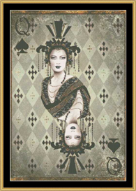 Queen Of Spades - Mirrored | Crafting | Cross-Stitch | Other