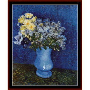 Lilacs-Marguerites-Anemones - Van Gogh cross stitch pattern by Cross Stitch Collectibles | Crafting | Cross-Stitch | Wall Hangings