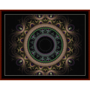 Fractal 288 cross stitch pattern by Cross Stitch Collectibles | Crafting | Cross-Stitch | Wall Hangings