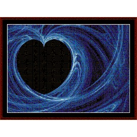 fractal 287 cross stitch pattern by cross stitch collectibles