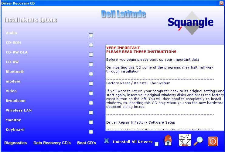 dell recovery software