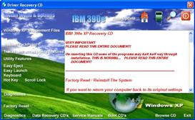 IBM Thinkpad 390E XP drivers restore disk recovery cd driver download iso | Software | Utilities