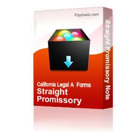Straight Promissory Note | Other Files | Documents and Forms