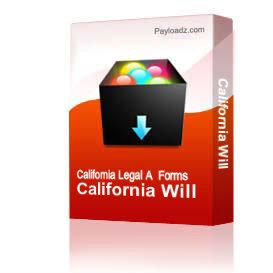 California Will | Other Files | Documents and Forms