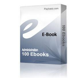 100 Ebooks | eBooks | Business and Money