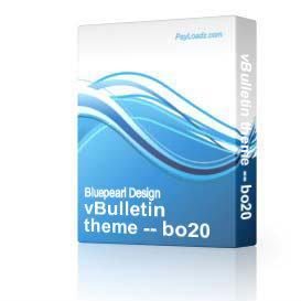 vBulletin theme -- bo20 | Software | Design Templates