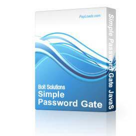 simple password gate javascript - username & password version