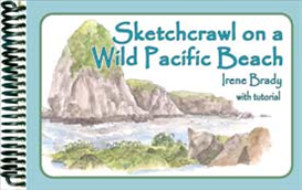 sketchcrawl on a wild pacific beach