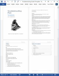 Troubleshooting Guide Template (MS Word) | Software | Software Templates