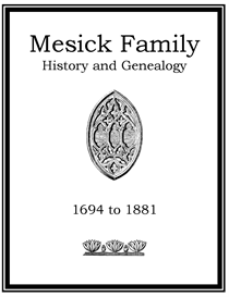 Mesick Family History and Genealogy | eBooks | History