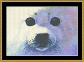 The Many Faces - Harp Seal Cross Stitch Download | Crafting | Cross-Stitch | Other