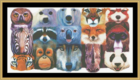 All The Many Faces - Cross Stitch Download | Crafting | Cross-Stitch | Other