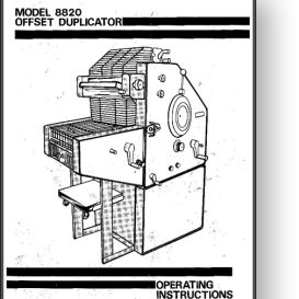 AB DICK 8820 Operator's and Parts Manual | Other Files | Documents and Forms