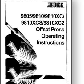 ab dick 9810 operator's and parts manual