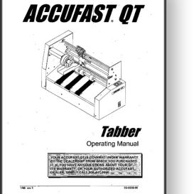 Accufast QT Mail Tabber Operator's Manual | Other Files | Documents and Forms