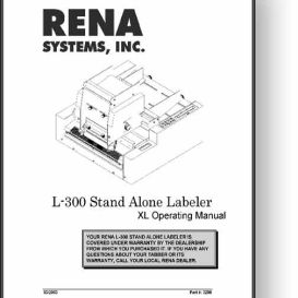 Accufast Rena L-300 Labeler Operator's Manual | Other Files | Documents and Forms