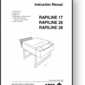 AGFA Rapiline 17 + 26 + 28 Operator's Manual | Other Files | Documents and Forms