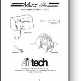 Airtech Mizer Plus Operator's and Parts Manual | Other Files | Documents and Forms
