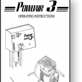 Airtech Powdair 3 Operator's and Parts Manual | Other Files | Documents and Forms