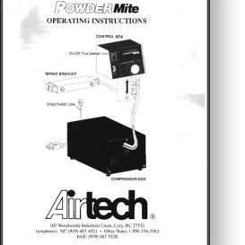 airtech powdermite powder spray operator's manual