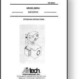 Airtech Quickspray Operator's and Parts Manual | Other Files | Documents and Forms