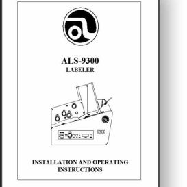 Astro ALS-9300 Labeler Operator's & Installation Manual | Other Files | Documents and Forms