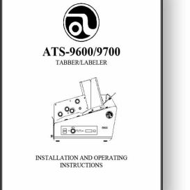 Astro ALS-9600 / 9700 Tabber / Labeler Manual   Other Files   Documents and Forms