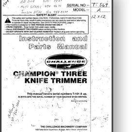 Challenge Champion Three Knife Trimmer Manual | Other Files | Documents and Forms